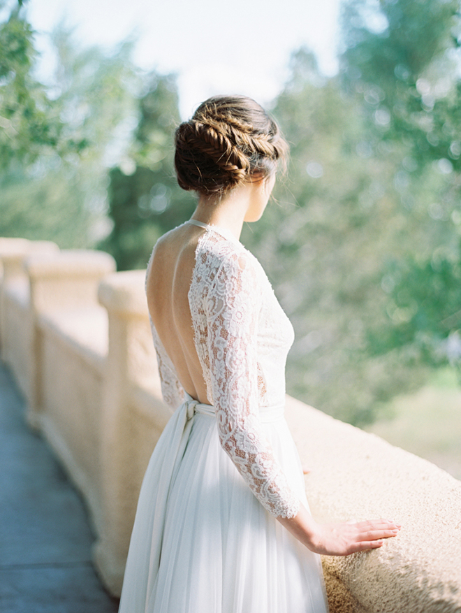 Braided Up do for a winter wedding.