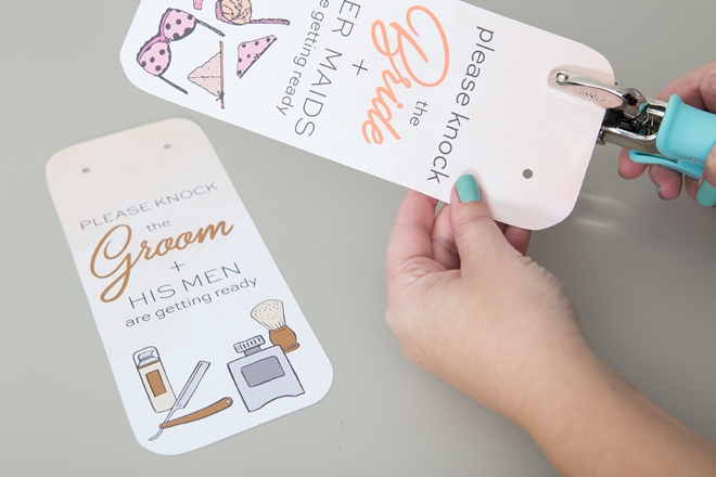 These free printable getting ready door hangers are just the cutest!