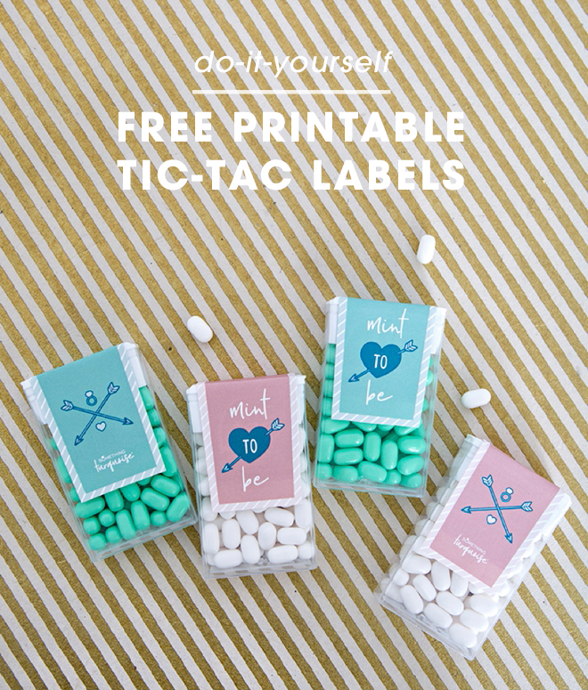 These free printable tic-tac wedding favor labels are adorable!