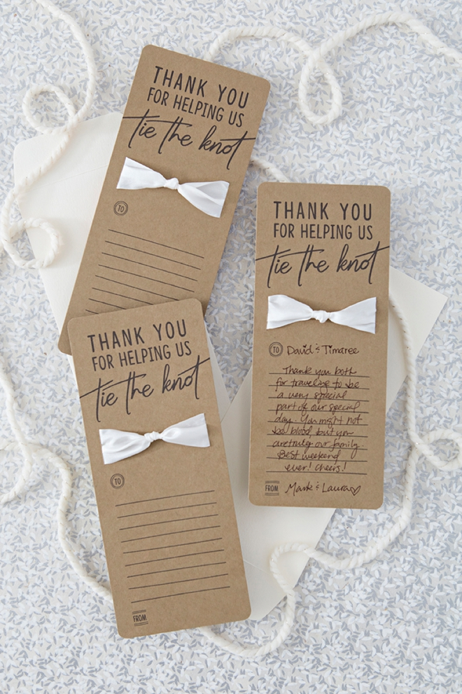 Make your own wedding thank you cards with these free printable files!