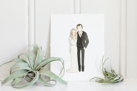 Looking for a unique wedding or holiday gift for the newlyweds? This custom wedding portrait is it!
