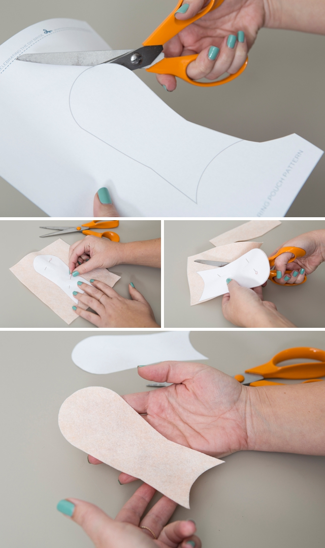 Learn how to make your own wedding ring travel pouch!