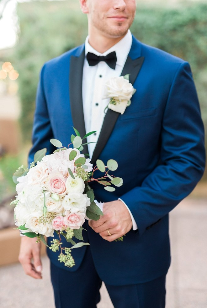 We love a good blue suit on a handsome groom and this one was our favorite!