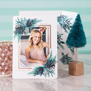 Something Turquoise holiday cards from Minted!