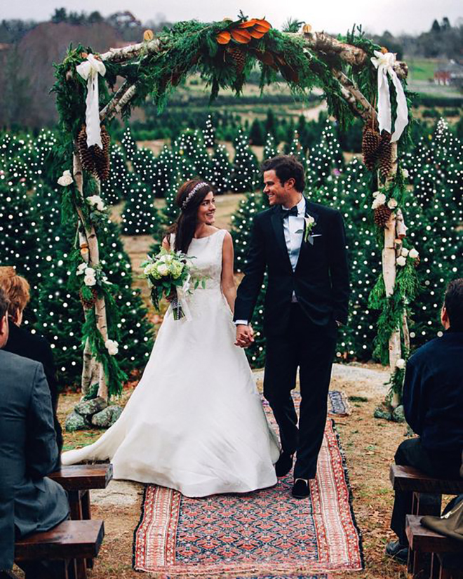 Don't you want to get married at a Christmas tree farm now!?