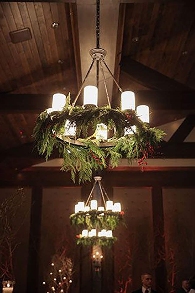 Hanging wreaths is a subtle way to add a little Christmas.