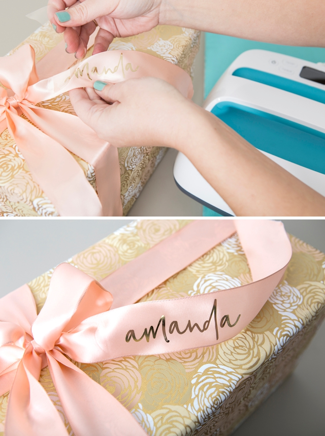 Personalize ribbon with your Cricut Maker and Cricut EasyPress!