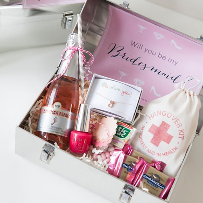 One of our favorite bridesmaid ask ideas ever!