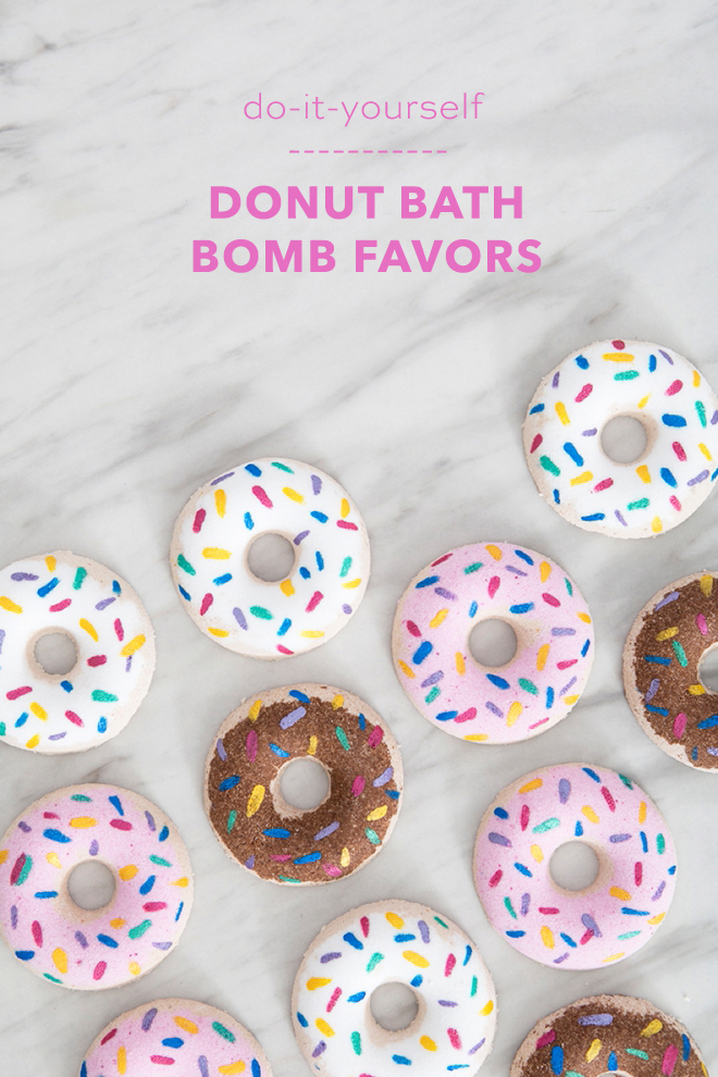Wow, these DIY donut bath bombs are the cutest ever!