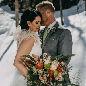 How cute is this super wintery styled wedding in Canada?! LOVE!