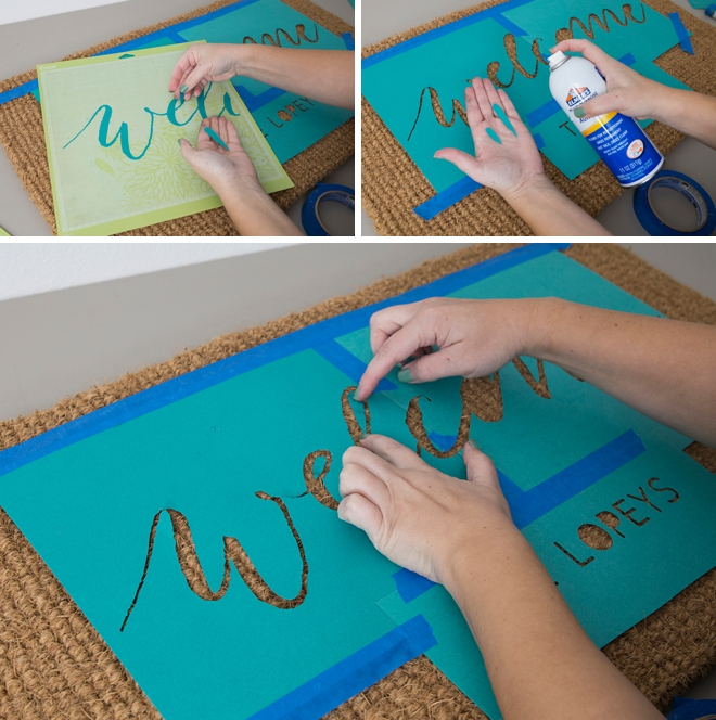 These doormats are DIY and super easy, here's how!