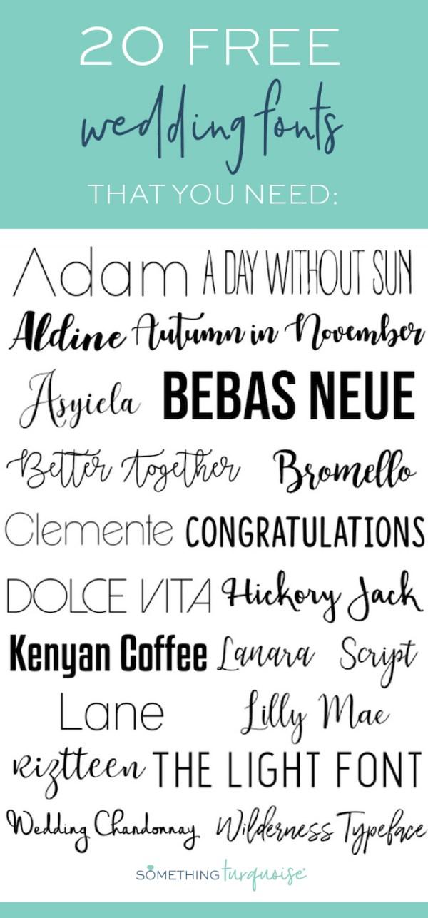 free wedding fonts # 1