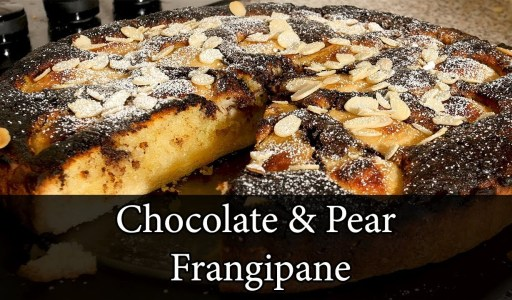 Chocolate & Pear Tart (Frangipane)- How to Make From Scratch.