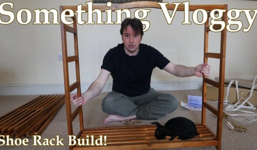 Shoe Rack Building With Rabbit Supervision | DIY
