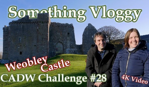 Exploring Fortified Manor House Weobley Castle – CADW Challenge #28