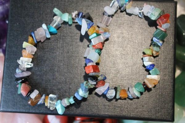 Mixed Crystal Chip Bracelet