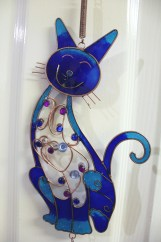 Blue Kitty Wind Chime