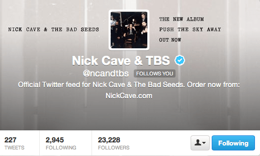 nick cave follows you