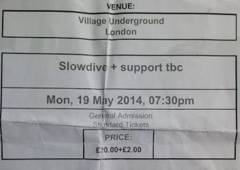 slowdive ticket