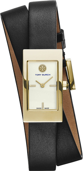 7. tory-burch-gold-the-buddy-signature-double-wrap