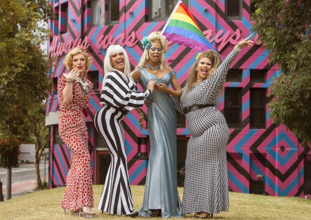 RuPaul's Madame Tussauds wax figure is officially welcomed to Sydney, with the help of professional drag queens_2-001