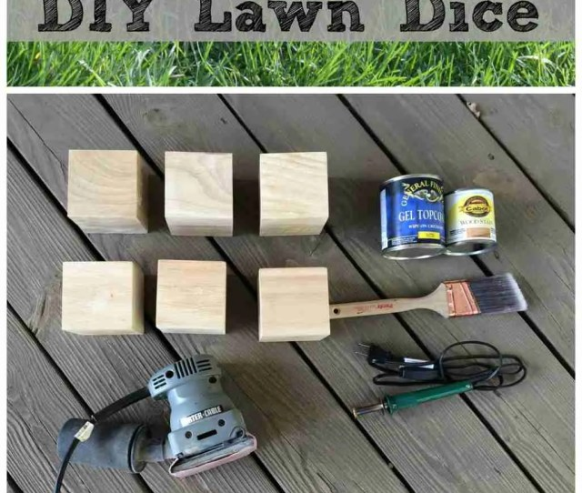 Diy Wooden Lawn Dice Make Your Own Wooden Yard Dice Perfect For Your Next