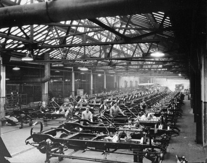 early assembly at Packard Factory