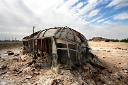 Salton Sea abandoned trailer