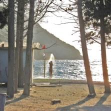Valdanos beach shower