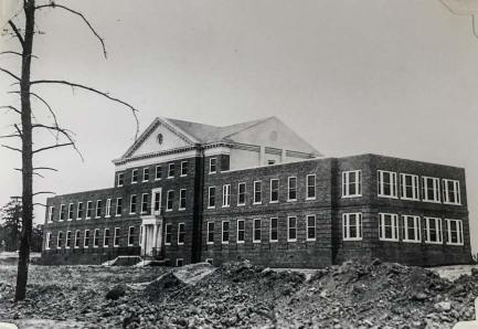 Administration building under construction, 1930s