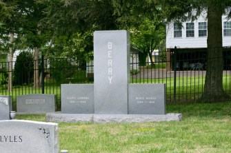 George Berry grave (courtesy John Galt)