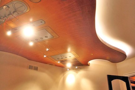 guitar ceiling in music room
