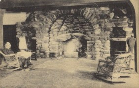 South lounge fireplace, 1909