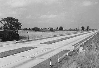 Pennsylvania Turnpike after open, circa 1940s