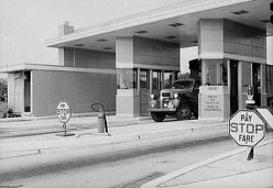 PT toll booth, circa 1940s