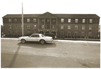 Wallace Hall and random Chevy Caprice coupe in 1983.