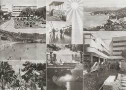 Promotional photos for the Grand Hotel on Lopud Island, circa 1937.