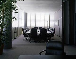 Looking from former Bugatti Automobili CEO Romano Artioli's office into the adjacent conference room, circa 1993.