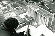 Police snipers kept an eye on the roof of the New Orleans HoJo.
