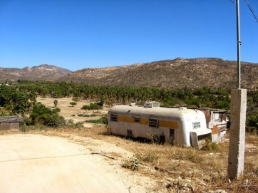Baja Dusty and hilly road and rv