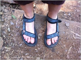Teva sandals on feet