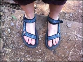 Teva sandals on feet