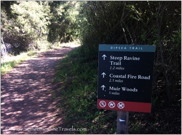 Sign for hiking trail