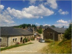 Road through old stone village
