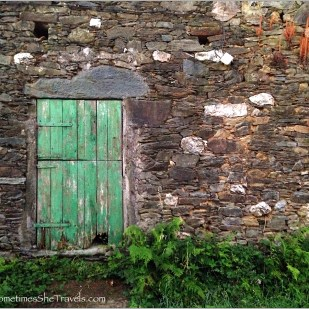 Green Door / Stone Wall