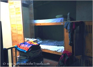 Once again, I scored the bottom bunk. My friend, Kyeong, whom I'd met my first evening on the Camino at Orisson, was in the top bunk.