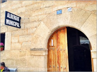 Entrance to the municipal albergue at Hontanas