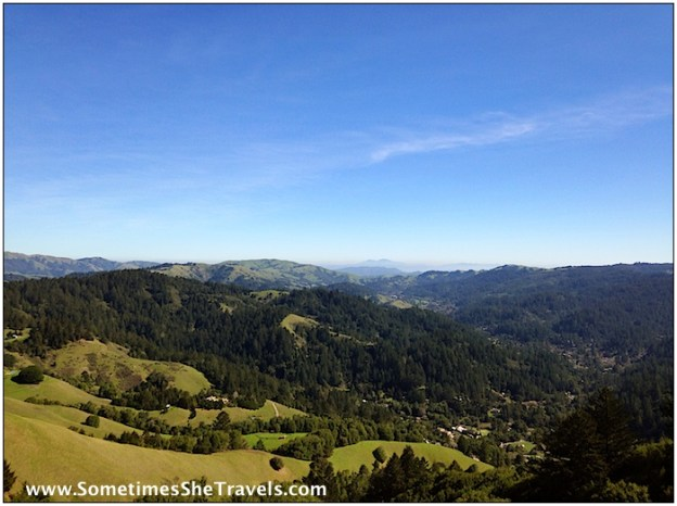 San Geronimo Valley in the foreground with Mt. Diablo in the background.