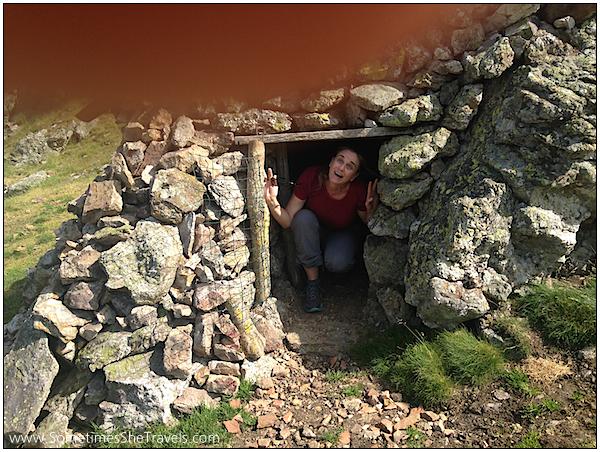 Day 2 hermit stone hut