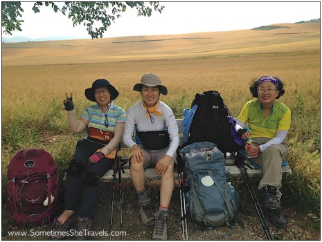 1030 - We crossed paths with these three friendly pilgrims from South Korea. I was very surprised by the number of South Koreans I met on the Camino.